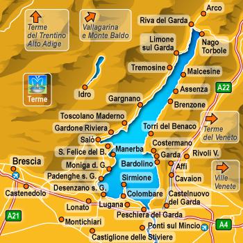 Cartina Lago Di Garda E Dintorni.Alberghi Affi Lago Di Garda Hotel Pensioni Ostelli